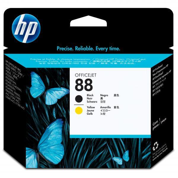 HP originální tisková hlava C9381A, No.88, black/yellow, HP OfficeJet K550, dtn, dtwn