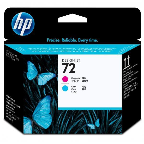 HP originální tisková hlava C9383A, No.72, magenta/cyan, HP Designjet T1100, T770