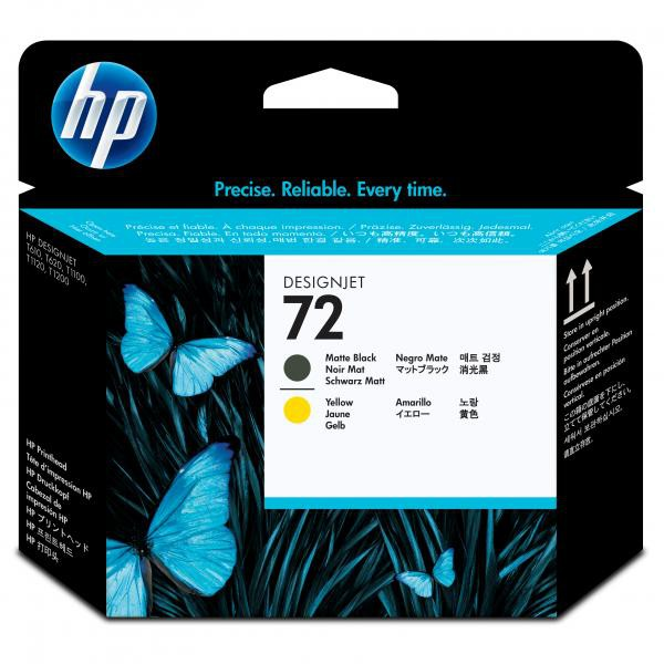 HP originální tisková hlava C9384A, No.72, matte black/yellow, HP Designjet T1100, T770