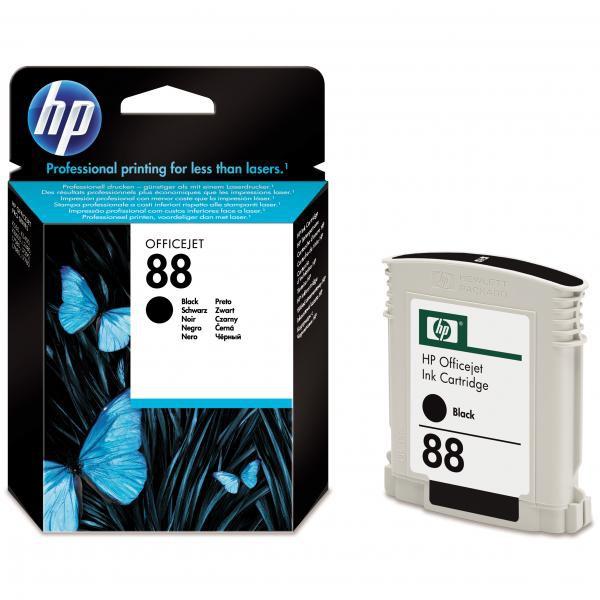 HP originální ink C9385AE, No.88, black, 820str., 20,5ml, HP OfficeJet Pro K5400, L7580, L7680, L7780