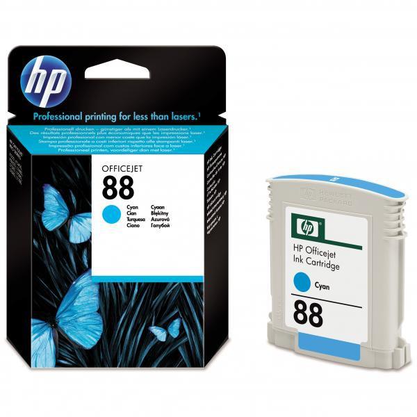 HP originální ink C9386AE, No.88, cyan, 620str., 9ml, HP OfficeJet Pro K5400, L7580, L7680, L7780