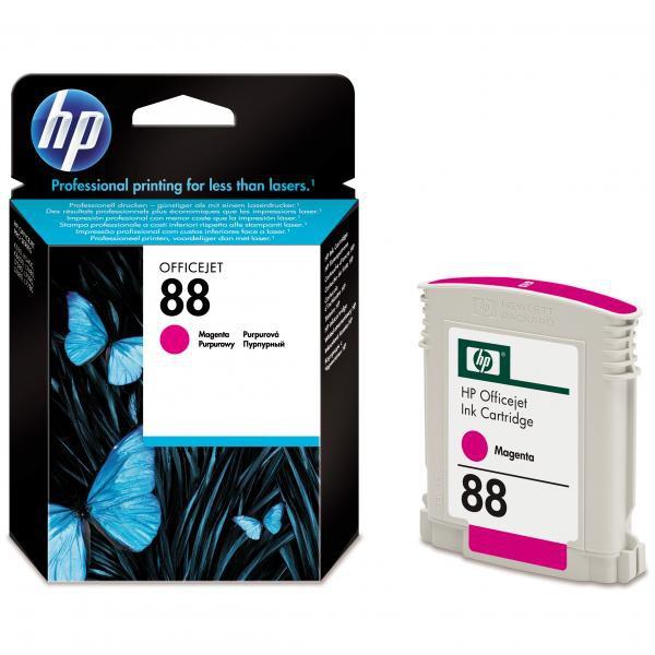 HP originální ink C9387AE, No.88, magenta, 620str., 10ml, HP OfficeJet Pro K5400, L7580, L7680, L7780