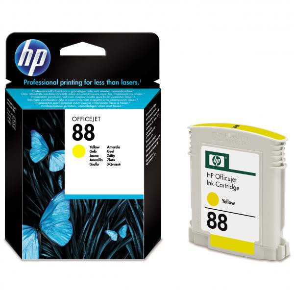 HP originální ink C9388AE, No.88, yellow, 860str., 9ml, HP OfficeJet Pro K5400, L7580, L7680, L7780