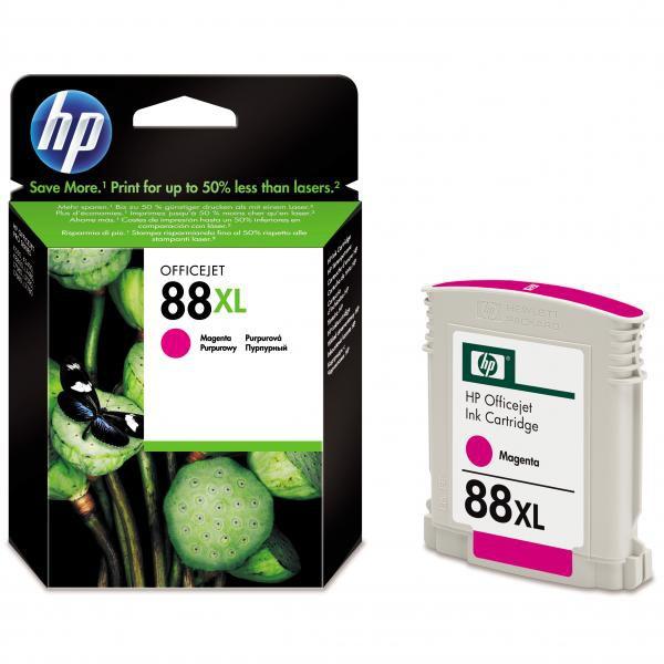 HP originální ink C9392AE, No.88XL, magenta, 1200str., 17,1ml, HP OfficeJet Pro K5400, L7580, L7680, L7780