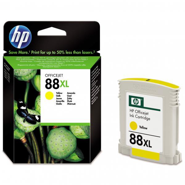 HP originální ink C9393AE, No.88XL, yellow, 1200str., 17,1ml, HP OfficeJet Pro K5400, L7580, L7680, L7780