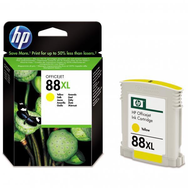 HP originální ink C9393AE, No.88XL, yellow, 1200str., 17,1ml, HP OfficeJet Pro K5400, L7580, L7680, L7780