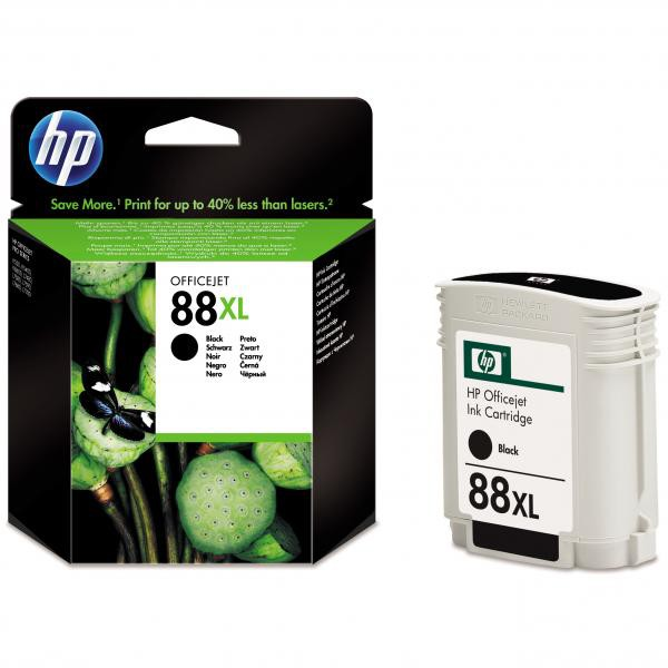 HP originální ink C9396AE, No.88XL, black, 2350str., 58,9ml, HP OfficeJet Pro K5400, L7580, L7680, L7780
