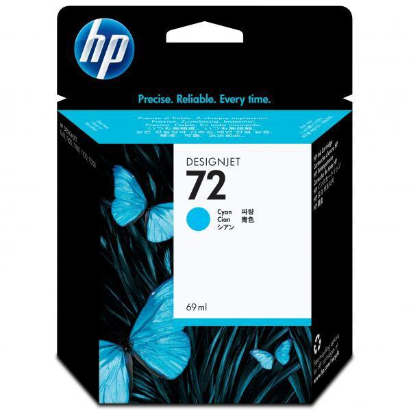 HP originální ink C9398A, No.72, cyan, 69ml, HP Designjet T1100, T770