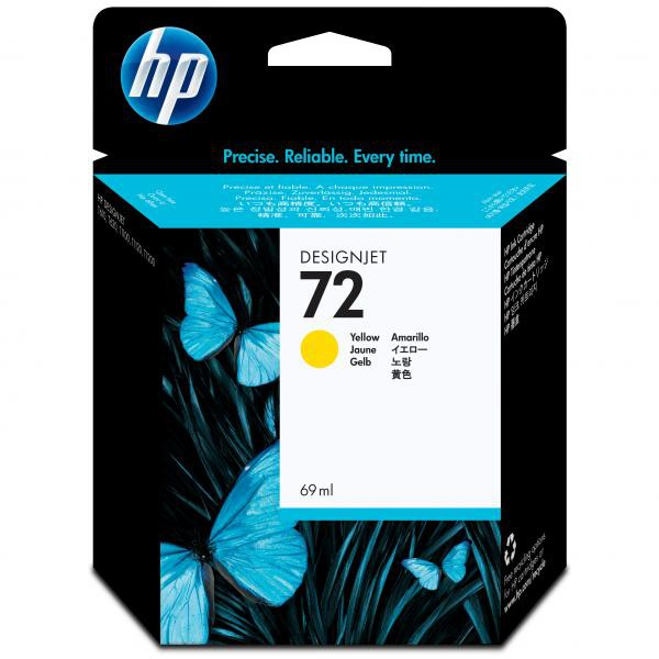 HP originální ink C9400A, No.72, yellow, 69ml, HP Designjet T1100, T770