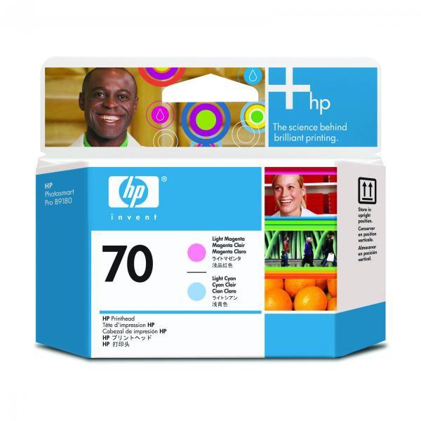 HP originální tisková hlava C9405A, No.70, light cyan/light magenta, HP Photosmart Pro B9180, Designjet Z2100, Z3100