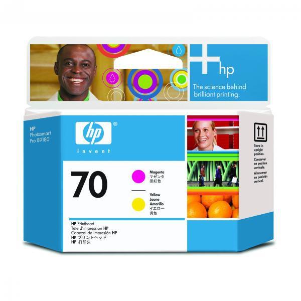 HP originální tisková hlava C9406A, No.70, magenta/yellow, HP Photosmart Pro B9180, Designjet Z2100, Z3100