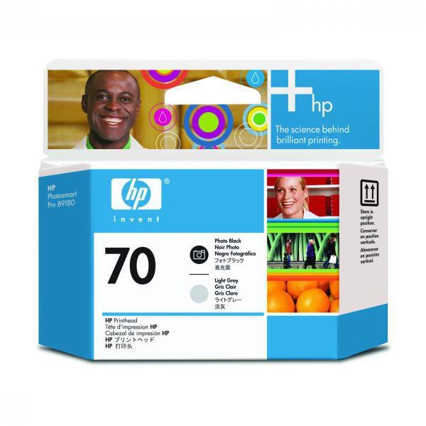 HP originální tisková hlava C9407A, No.70, photo black/light grey, HP Photosmart Pro B9180, Designjet Z2100, Z3100