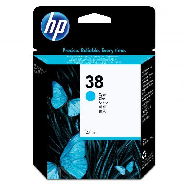 HP originální ink C9415A, No.38, cyan, HP Photosmart Pro B9180