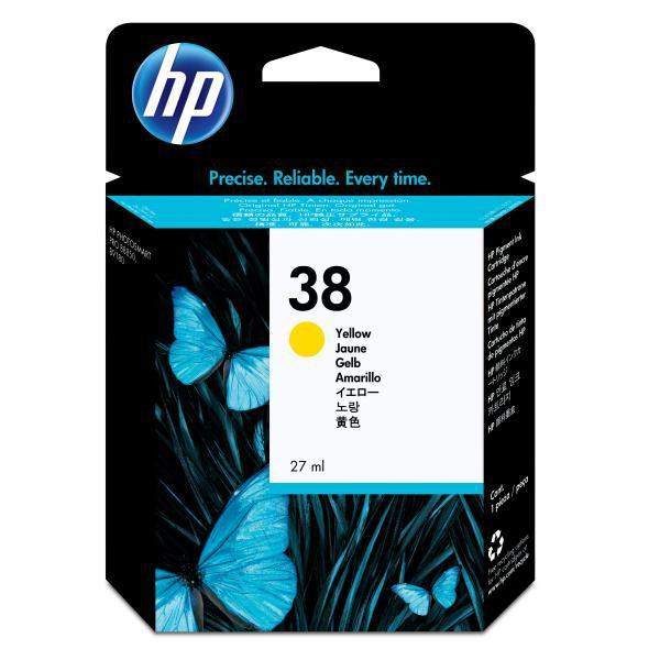 HP originální ink C9417A, No.38, yellow, HP Photosmart Pro B9180