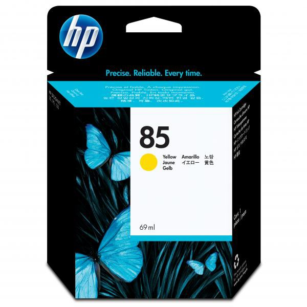 HP originální ink C9427A, No.85, yellow, 69ml, HP DesignJet 30, N, GP, DesignJet 130, NR, GP