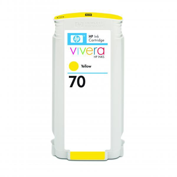 HP originální ink C9454A, No.70, yellow, 130ml, HP Designjet Z3100, Z2100