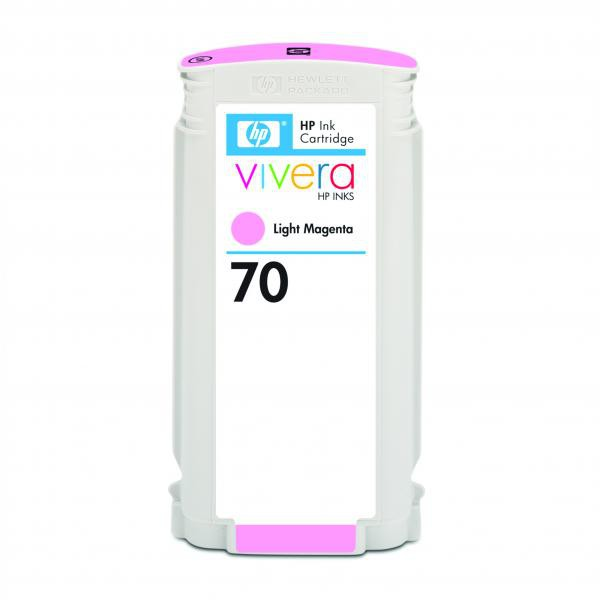 HP originální ink C9455A, No.70, light magenta, 130ml, HP Designjet Z3100, Z2100