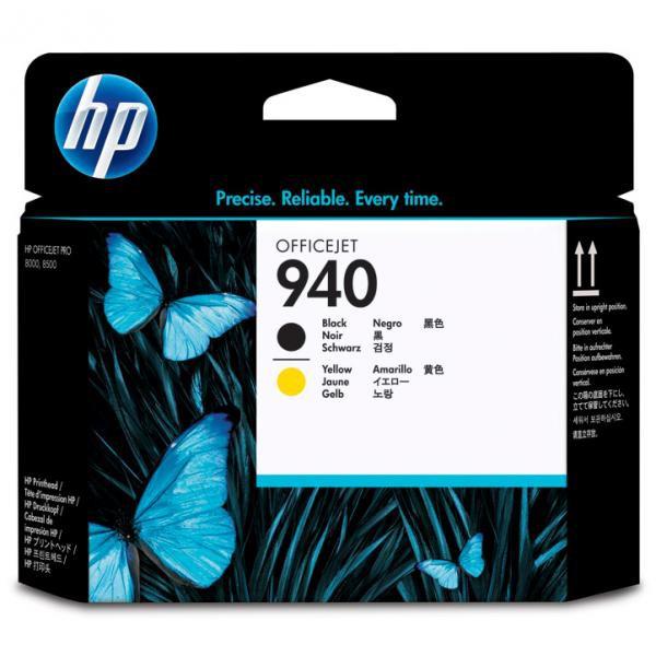 HP originální tisková hlava C4900A, No.940, black/yellow, HP Officejet