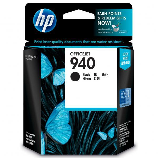 HP originální ink blistr, C4902AE#301, No.940, black, HP Officejet
