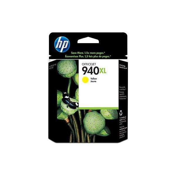 HP originální ink C4909AE, No.940XL, yellow, 1400str., 16ml, HP Officejet Pro 8000, Pro 8500