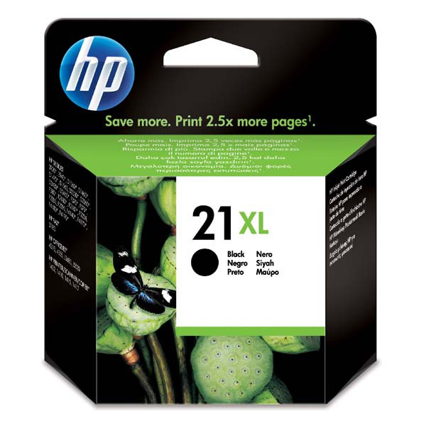 HP originální ink C9351CE, HP 21XL, black, blistr, 475str., 12ml, HP PSC-1410, DeskJet F380, OJ-4300