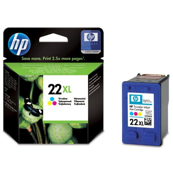 HP originální ink C9352CE, HP 22XL, color, blistr, 415str., 11ml, HP PSC-1410, DeskJet F380, D2300
