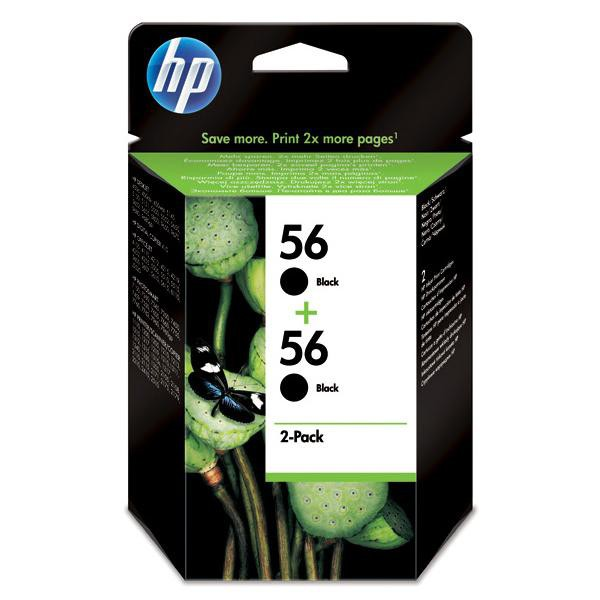 HP originální ink C9502AE, No.56, black, 900 (2x450)str., 2x19ml, HP 2-Pack, C6656AE, DeskJet 450, 5652, 5150, psc-7150