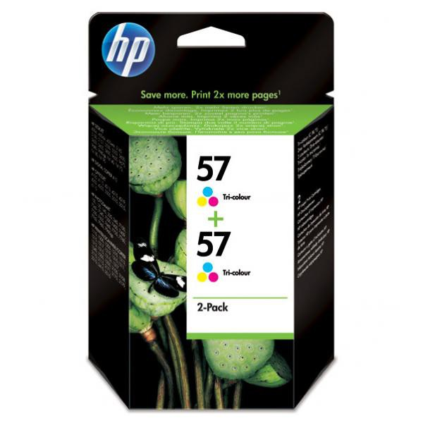 HP originální ink C9503AE, No.57, color, 800 (2x400)str., 2x17ml, HP 2-Pack, C6657AE, DeskJet 450, 5652, psc-7150