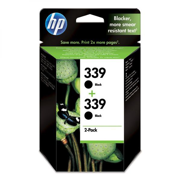 HP originální ink C9504EE, No.339, black, 1600 (2x800)str., 2x21ml, HP 2-Pack, C8767EE, Photosmart 8150, OJ-7410, DJ-5740