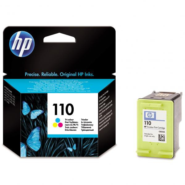 HP originální ink CB304AE, No.110, color, 55str., 5ml, HP Photosmart A310, 316, 432, 436, 440, 516, 532, 612