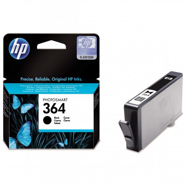 HP originální ink CB316EE, No.364, black, 250str., HP Photosmart B8550, C5380, D5460