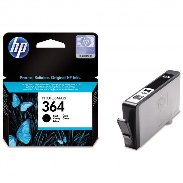 HP originální ink blistr, CB316EE#301, No.364, black, 250str., HP Photosmart B8550, C5380, D5460