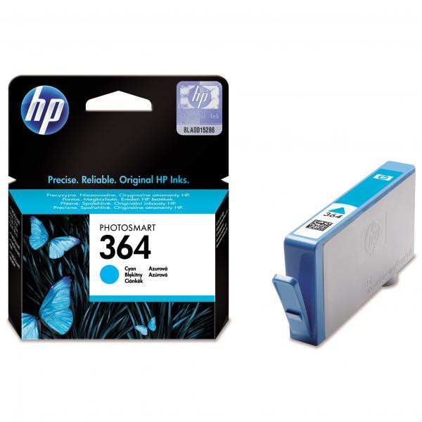 HP originální ink CB318EE, No.364, cyan, 300str., HP Photosmart B8550, C5380, D5460