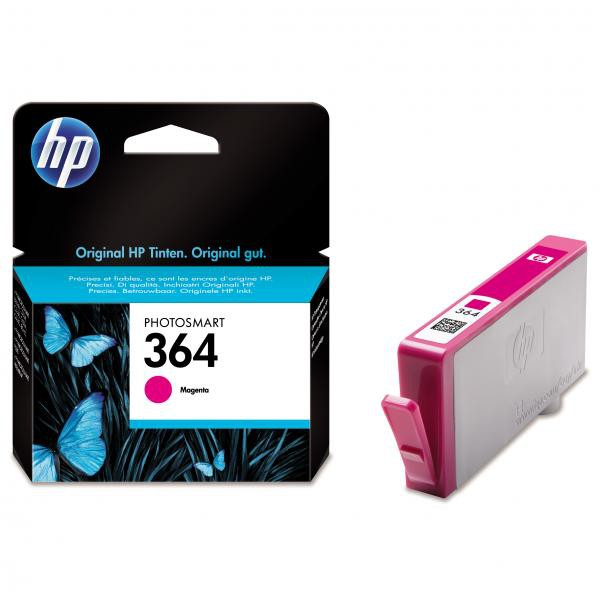 HP originální ink CB319EE, No.364, magenta, 300str., HP Photosmart B8550, C5380, D5460