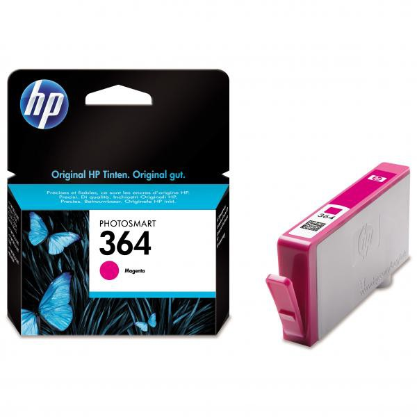 HP originální ink blistr, CB319EE#301, No.364, magenta, 300str., HP Photosmart B8550, C5380, D5460