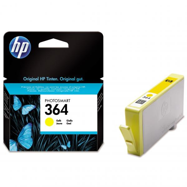 HP originální ink CB320EE, No.364, yellow, 300str., HP Photosmart B8550, C5380, D5460