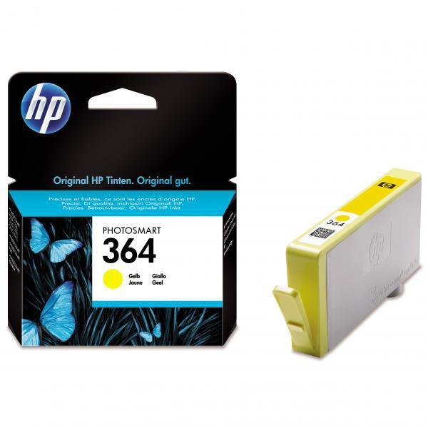 HP originální ink CB320EE, No.364, yellow, 300str., HP Photosmart B8550, C5380, D5460
