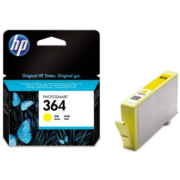 HP originální ink blistr, CB320EE#301, No.364, yellow, 300str., HP Photosmart B8550, C5380, D5460