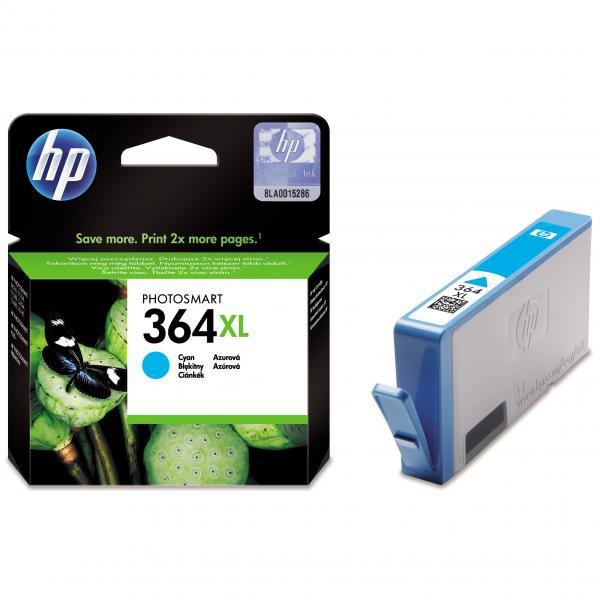 HP originální ink CB323EE, No.364XL, cyan, 750str., HP Photosmart B8550, C5380, D5460