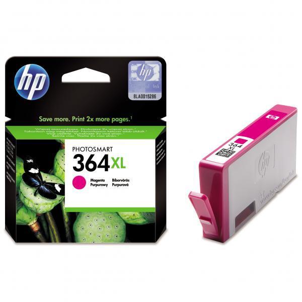 HP originální ink blistr, CB324EE#301, No.364XL, magenta, 750str., HP Photosmart B8550, C5380, D5460
