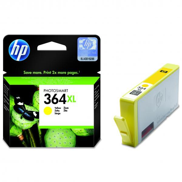 HP originální ink blistr, CB325EE#301, No.364XL, yellow, 750str., HP Photosmart B8550, C5380, D5460