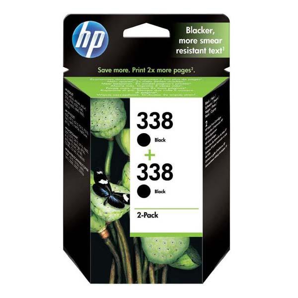 HP originální ink CB331EE, No.338, black, 900 (2x450)str., 2x11ml, HP 2-Pack, C8765EE, PSC-1610, OJ-6210, DeskJet 6840