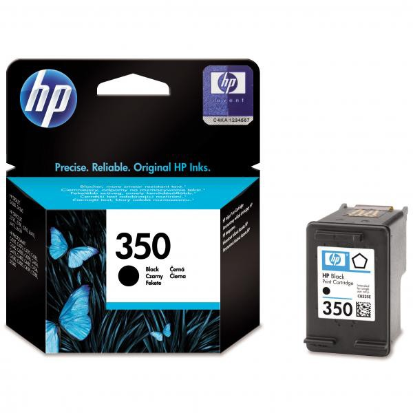 HP originální ink blistr, CB335EE#301, No.350, black, 4,5ml, HP Officejet J5780, J5785