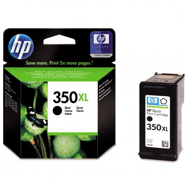 HP originální ink CB336EE, No.350XL, black, 25ml, HP Officejet J5780, J5785
