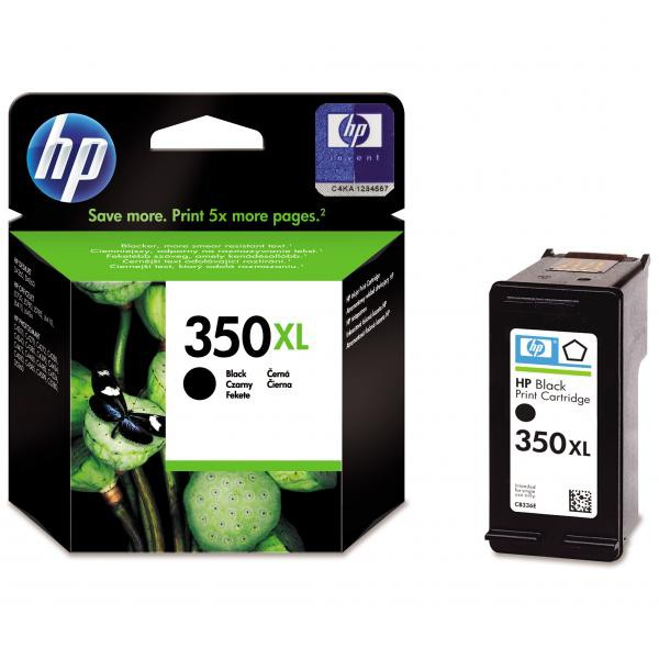 HP originální ink blistr, CB336EE#301, No.350XL, black, 25ml, HP Officejet J5780, J5785