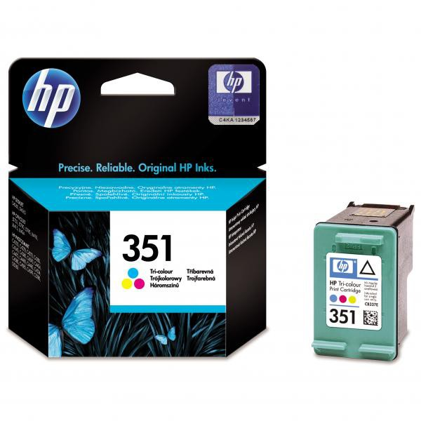 HP originální ink CB337EE, No.351, color, 3,5ml, HP Officejet J5780, J5785