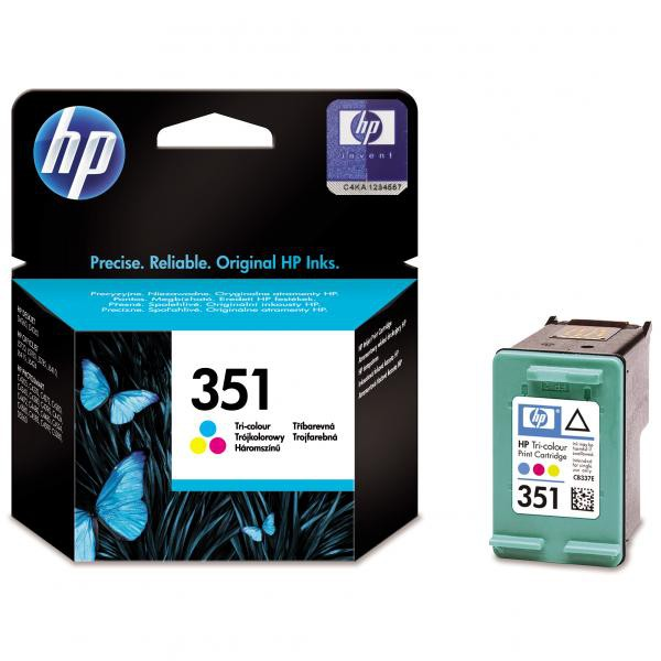 HP originální ink blistr, CB337EE#301, No.351, color, 3,5ml, HP Officejet J5780, J5785