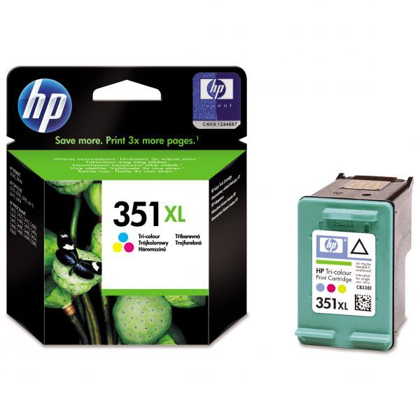 HP originální ink CB338EE, No.351XL, color, 14ml, HP Officejet J5780, J5785