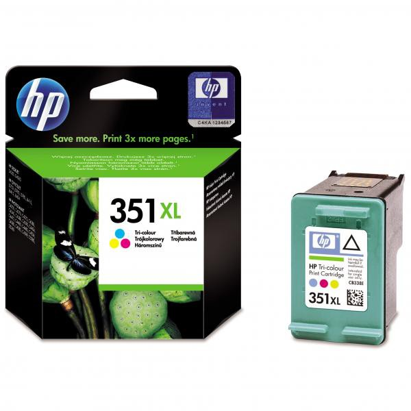 HP originální ink blistr, CB338EE#301, No.351XL, color, 14ml, HP Officejet J5780, J5785
