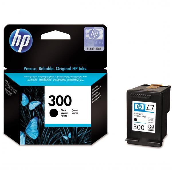HP originální ink blistr, CC640EE#301, No.300, black, 200str., 4ml, HP DeskJet D2560, F4280, F4500